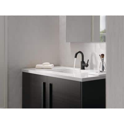 Precept Single Hole Single-Handle Bathroom Faucet in Matte Black