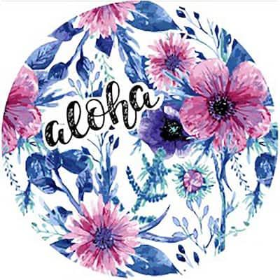 Roundie Aloha/Multicolored Floral Cotton Single Beach Towel