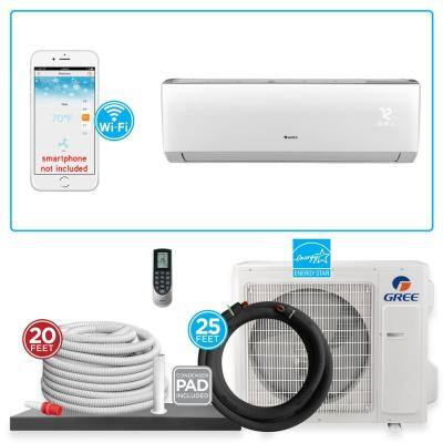 Ultra 28000 BTU 2.5-Ton BTU Ductless Mini Split Air Conditioner with Heat Pump and Install Kit 230-Volt
