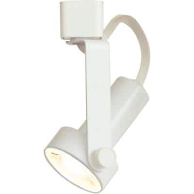 1-Light Indoor Interior White Gimbal Ring Integrated LED Track Lighting Head