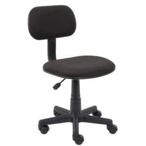 22 in. Width Standard Black Fabric Task Chair with Swivel Seat