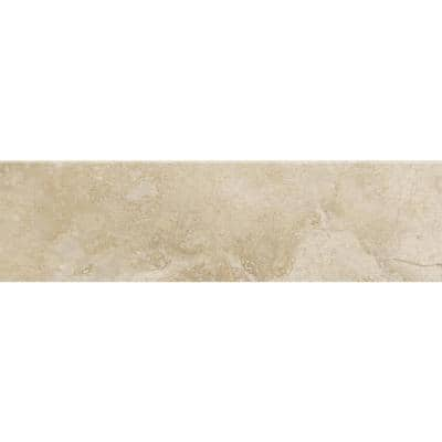Oasis Beige 3 in. x 12 in. Matte Porcelain Floor and Wall Bullnose (5 sq. ft./Case)