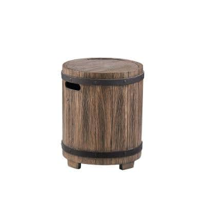 Barlo Distressed Brown Stone Outdoor Side Table