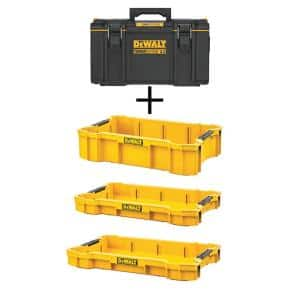 TOUGHSYSTEM 2.0 22 in. Medium Tool Box with (1) TOUGHSYSTEM 2.0 Deep Tool Tray & (2) TOUGHSYSTEM 2.0 Shallow Tool Trays