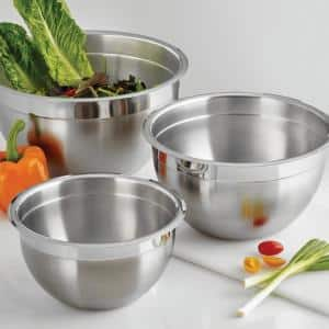 Gourmet 3-Piece Stainless Steel Mixing Bowls