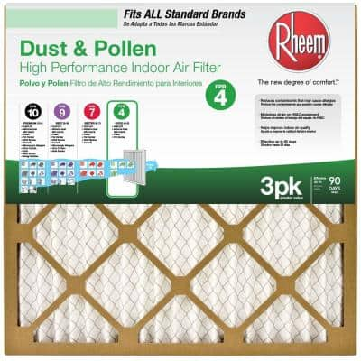 14 x 14 x 1 Basic Household Pleated MERV 8 - FPR 4 Air Filter (12-pack)