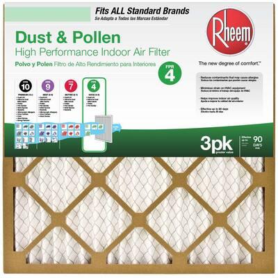 16 x 25 x 1 Basic Household Pleated MERV 8 - FPR 4 Air Filter (12-pack)