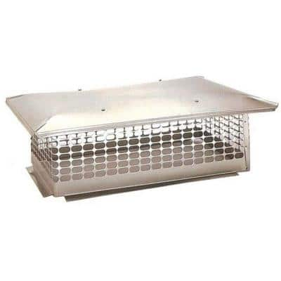 17 in. x 35 in. Fixed Stainless Steel Chimney Cap