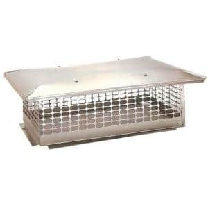 28 in. x 33 in. Fixed Stainless Steel Chimney Cap