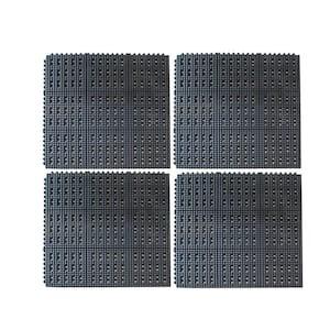 36 in. x 36 in. Industrial Rubber Anti-Fatigue Interlocking Mats (Set of 4)