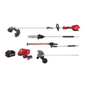 M18 FUEL 18-Volt Lithium-Ion QUIK-LOK String Trimmer/Blower Combo Kit with Edger, Hedge Trimmer and Pole Saw (5-Tool)