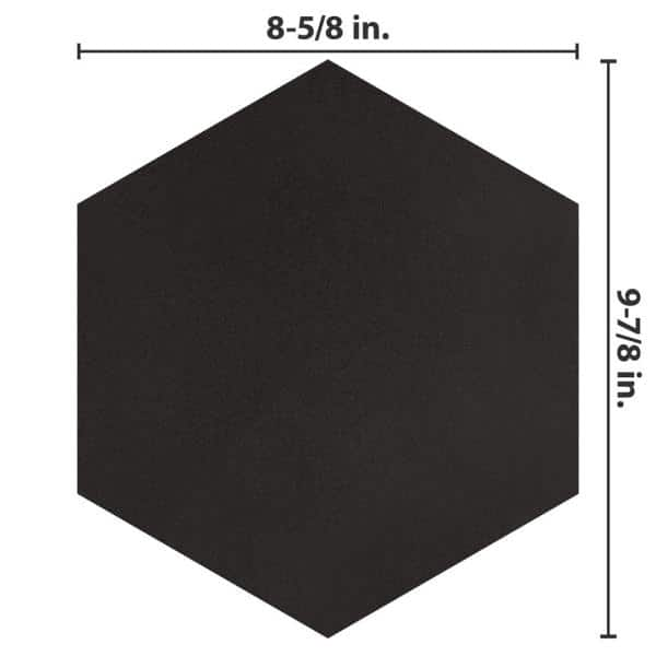 Merola Tile Textile Hex Black 8 5 8 In X 9 7 8 In Porcelain Floor And Wall Tile 11 56 Sq Ft Case Fcd10btx The Home Depot