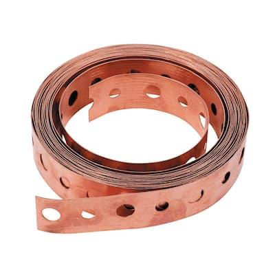 3/4 in. x 10 ft. 24-Gauge Copper Pipe Hanger Strap