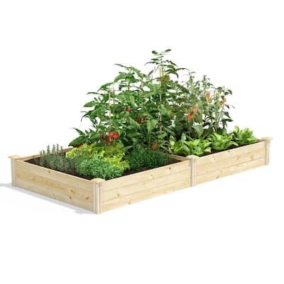 4 ft. x 8 ft. x 10.5 in. Original Pine Raised Garden Bed