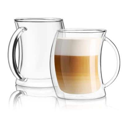 Caleo 13.5 oz. Double Wall Insulated Latte Glasses (Set of 2)