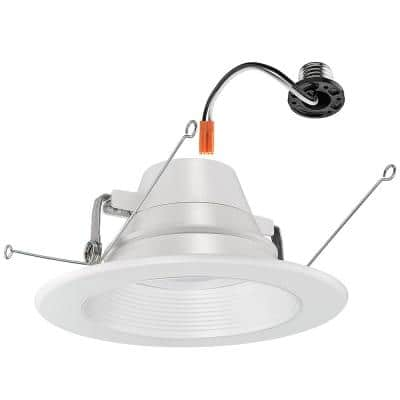 6 in. 30-in-1 Configurations Selectable CCT Integrated LED Recessed Trim Ceiling Light High Output Wet Rated Dimmable