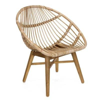 Florida Natural Solid Wood Bucket Chair
