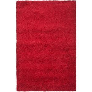 California Shag Red 8 ft. x 10 ft. Area Rug