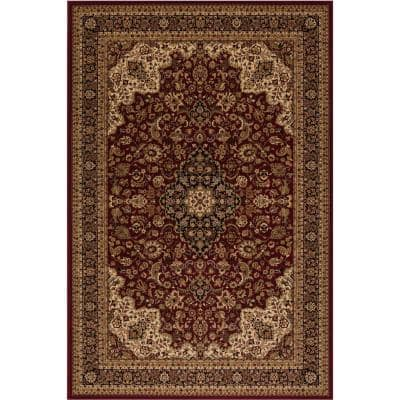 Persian Classics Medallion Kashan Red 8 ft. x 11 ft. Area Rug