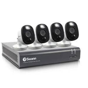 DVR-4580 4-Channel 1080p 1TB DVR Security Camera System with Four 1080p Wired Bullet Cameras