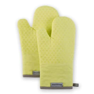 Asteroid Silicone Grip Buttercup Yellow Oven Mitt Set (2 Pack)