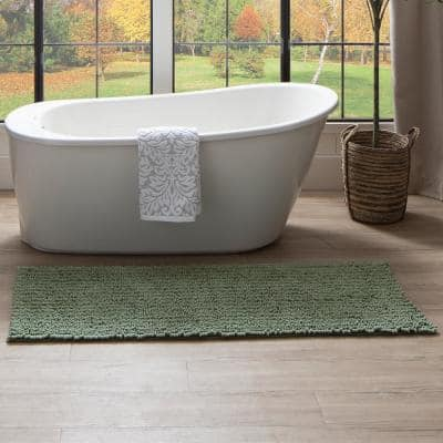 Metaphor Oregano 24 in. x 60 in. Micro Denier Polyester Bath Mat