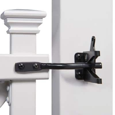 3-1/2 ft. H x 3-1/2 ft. W White Vinyl Manchester Fence Gate Kit with Posts and Hardware