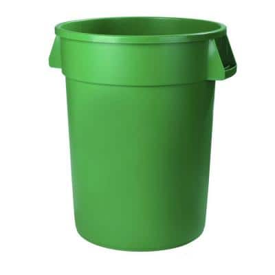 Bronco 55 Gal. Green Round Trash Can (2-Pack)