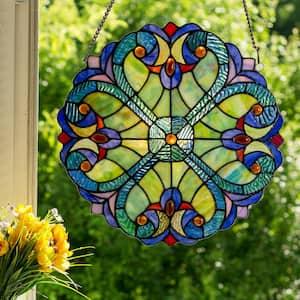 Multi Stained Glass Mini Halston Window Panel