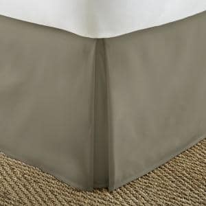 14 in. Taupe Solid Queen Bed Skirt
