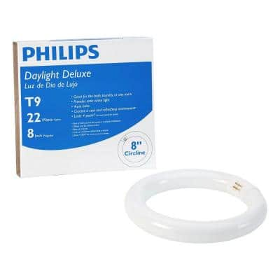 22-Watt 8 in. Linear T9 Fluorescent Tube Light Bulb Daylight Deluxe (6500K) Circline
