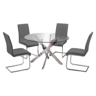 Trinity Grey Dining Set (5-Piece)