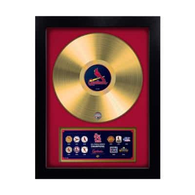 MLB St. Louis Cardinals 11-Time World Series Champion Gold Record