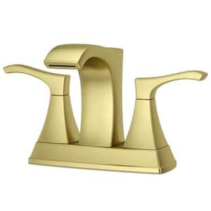 Venturi 4 in. Centerset 2-Handle Bathroom Faucet in Brushed Gold