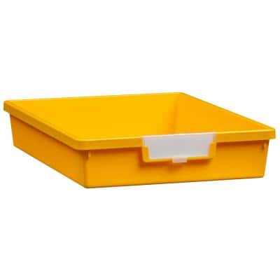 7.5 Gal. - Tote Tray - Slim Line 3 in. Storage Tray in Primary Yellow