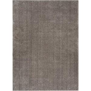 Well Woven Rainbow Chroma Glam Solid Light Grey 7 Ft 10 In X 9 Ft 10 In Multi Textured Shimmer Pile Shag Area Rug Ra 17 7 The Home Depot