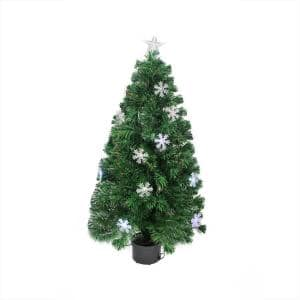 4 ft. Pre-Lit Color Changing Fiber Optic Artificial Christmas Tree with Snowflakes