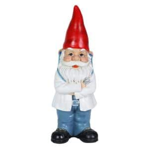 5 in. x 14 in. Hand Painted Doctor Danny Gnome Garden Statue