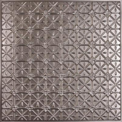 Continental Faux Tin 2 ft. x 2 ft. Lay-in or Glue-up Ceiling Panel (Case of 6)