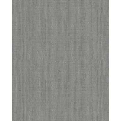 Vanora Dark Grey Linen Paper Strippable Wallpaper (Covers 56.4 sq. ft.)