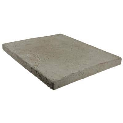 Easy Stack 11-3/4 in. x 11-3/4 in. x 1 in. Gray Manufactured Concrete Hearth/Cap Stone