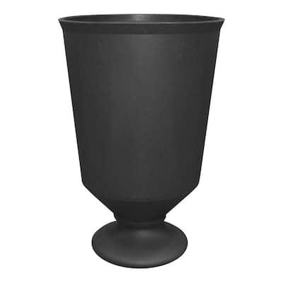 23 in. Slate Rubber Vibrato Self-Watering Urn