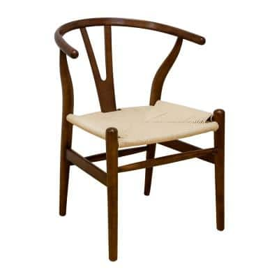 "Mid Century Modern ""W"" Walnut Dining Side Chair"