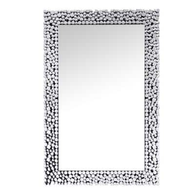 47 in. H x 32 in. W Modern Rectangle Framed Accent Mirror