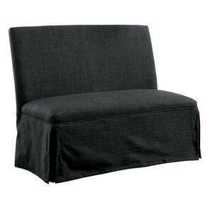 Cowan Dark Gray Upholstered Dining Love Seat