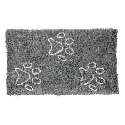 Comfy Pooch Clean Paw Gray/White 21 in. x 30 in. Pet Mat