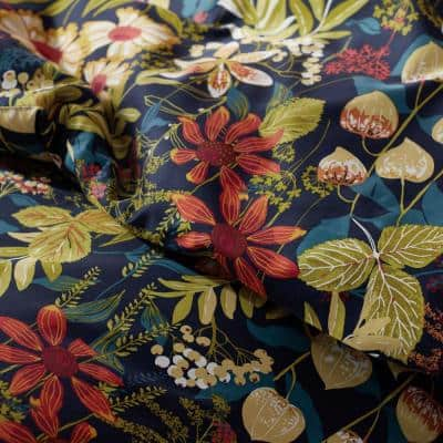 Legends Hotel Fall Floral Multicolored Oversized Sateen Duvet Cover