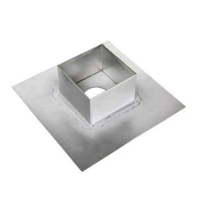 4 in. x 4 in. Pitch Pan with 3 in. Hole in Bottom - Soldered