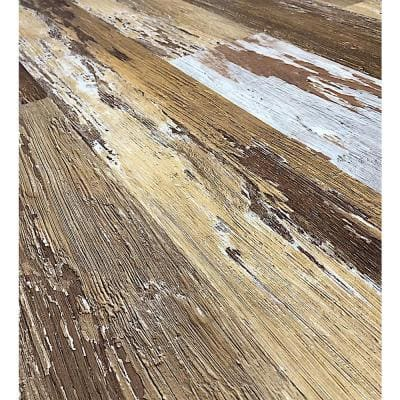 COLORS Floor and Wall DIY Old Brown Wood Aged 6 in. x 36 in. Multi-Tonal Luxury Vinyl Plank (30 sq. ft. / case)