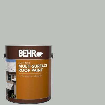 1 gal. #PFC-62 Pacific Fog Flat Multi-Surface Exterior Roof Paint